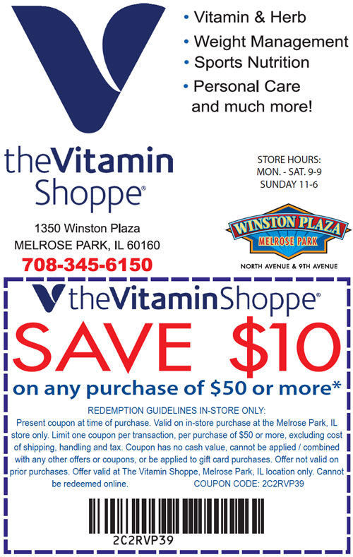 Complete list of all Vitamin Shoppe Coupons for December guaranteed! $25 off Your Order at Vitamin Shoppe, Grab 10% off at Vitamin Shoppe, Get $10 off Sitewide with this Coupon Code.